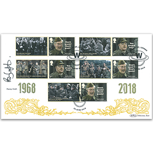 2018 Dad's Army Generic Sheet BLCS 5000 Cover 1 - Signed by Penny Croft
