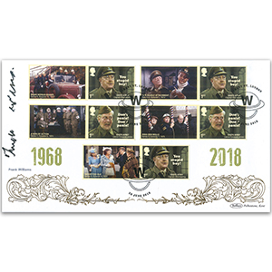 2018 Dad's Army Generic Sheet BLCS Cover 2 - Signed Frank Williams
