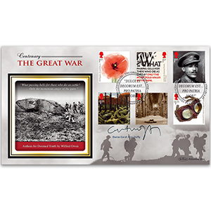 2018 WWI Stamps BLCS 5000 Signed Dame Carol Ann Duffy