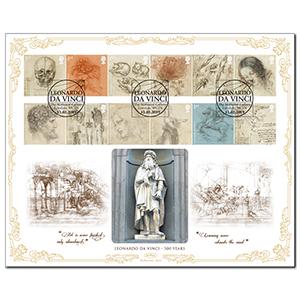 2019 Leonardo da Vinci Stamps BLCS 2500
