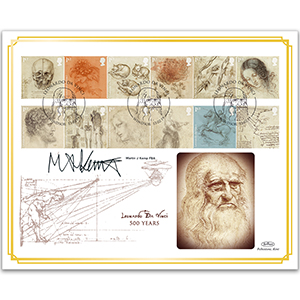 2019 Leonardo da Vinci Stamps BLCS 5000 - Signed Martin J Kemp FBA
