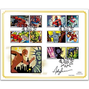 2019 Marvel Generic Sheet BLCS 5000 - Signed by Andy Serkis
