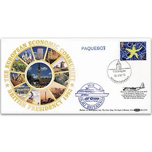 1992 Single European Market - Vlissingen Paquebot BLCS - Flown