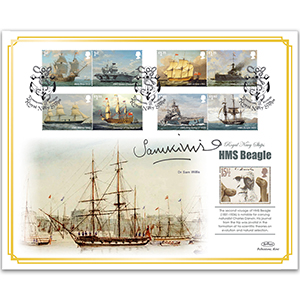 2019 Royal Navy Ships Stamps BLCS 5000 - Signed Dr Sam Willis