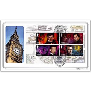 2020 James Bond PSB BLCS Cover 1 - (P2) 3 x 1st/£1.60 Pane