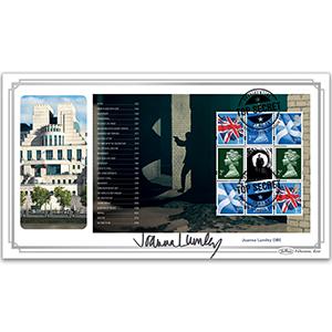 2020 James Bond PSB BLCS Cover 4 - (P4) Machin Pane Signed Joanna Lumley OBE