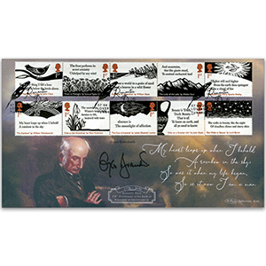 2020 Romantic Poets Stamps BLCS 5000 Signed Gyles Brandreth