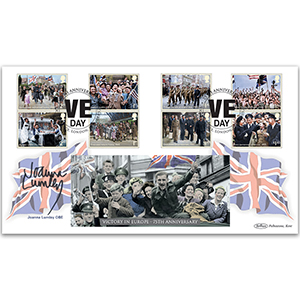2020 End of WWII Stamps BLCS 5000 Signed Joanna Lumley OBE