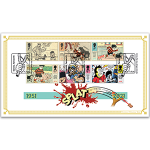 2021 Dennis and Gnasher Stamps BLCS 5000
