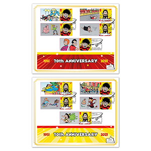 2021 Dennis and Gnasher Collector Sheet BLCS Pair
