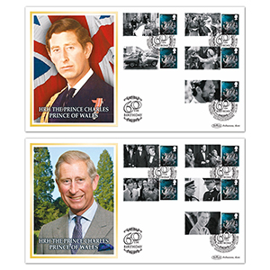 2008 HRH Prince Charles Prince of Wales 60th Birthday Commemorative Sheet - Special Pair