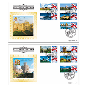 2009 Castles of England Generic Sheet Pair of Covers