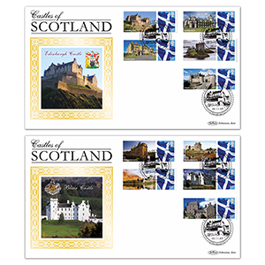 2009 Scotland Castles Pair of BLCS Covers