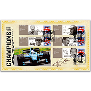 2010 Grand Prix Commemorative Sheet BLCSSP Cover 1 - Signed by John Surtees CBE