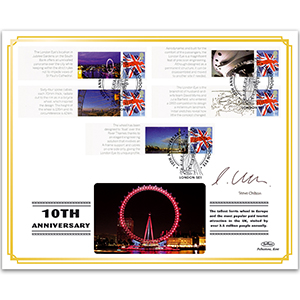 2010 London Eye Anniversary BLCSSP Cover 1 Signed Steve Chilton