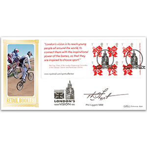 2012 Olympic Games Defin Retail Booklet BLCSSP - Signed by Phil Liggett MBE