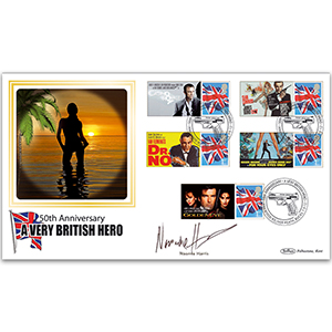 2012 James Bond Commemorative Sheet BLCSSP Cover 1 Signed Naomie Harris