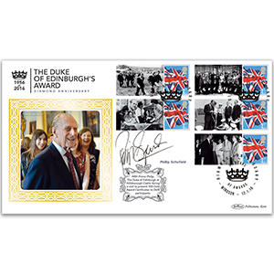 2016 Duke of Edinburgh Award Diamond Anniversary Comm.Sht. BLCSSP Cover 1 Signed Phillip Schofield