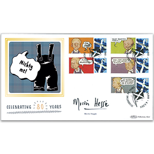 2016 Oor Wullie Commemorative Sheet BLCSSP Cover 2 - Signed by Morris Heggie