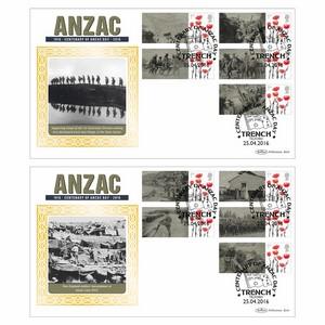 2016 Anzac Commemorative Sheet BLCS PAIR