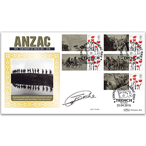 2016 Anzac Commemorative Sheet BLCSSP- Cover 1 - Signed by John Torode