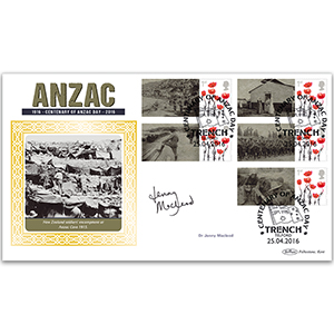 2016 Anzac Commemorative Sheet BLCSSP - Cover 2 - Signed by Dr. Jenny Macleod