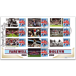 2016 West Ham Comm Sheet - BLCSSP Cover - Signed by Sir Trevor Brooking CBE