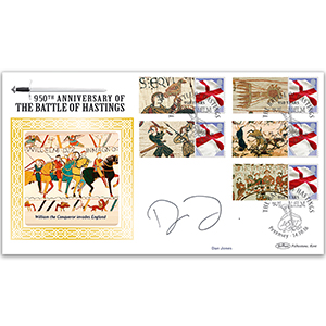 2016 Dan Jones Signed Battle of Hastings Comm Sheet BLCSSP - Cover 2