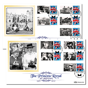 2017 Princess Royal Commemorative Sheet BLCS Pair
