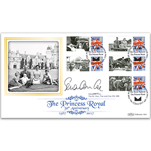 2017 Princess Royal Commemorative Sheet BLCSSP - Cover 1 Signed Lord Coe