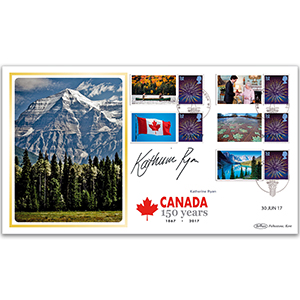 2017 Canada Commemorative Sheet BLCSSP - Cover 2 - Signed Katherine Ryan