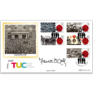 2018 150th Anniversary TUC Commemorative Sheet BLCSSP - Cover 1 - Signed Frances O'Grady