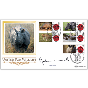 2018 United for Wildlife Commemorative Sheet BLCSSP - Cover 2 Signed Helen Worth