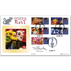 2019 Kay Burley Signed YEAR OF THE RAT GENERIC SHEET BLCSSP - COVER 1