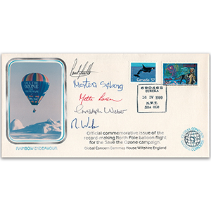 1999 Rainbow Endeavour North Pole Balloon Flight - Signed by Crew