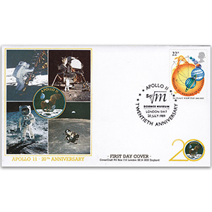 1989 20th Anniversary of Apollo 11 - CoverCraft - London Science Museum