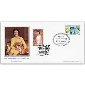 1986 Queen's 60th Birthday - National Portrait Gallery - Doubled 2001