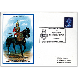 1973 British Military Uniforms - The Life Guards - 3p Stamp & Household Cavalry H/S