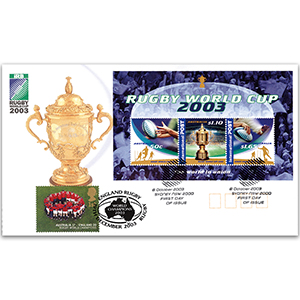 2003 Austrailia Post Rugby World Cup M/S - Doubled Rugby, England