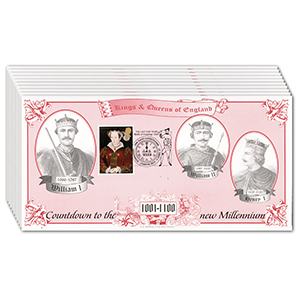 1997 Kings & Queens of England - Countdown to the Millennium - Set of 10