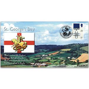 2001 St. George's Day Bradbury Cover - Windsor, Berkshire