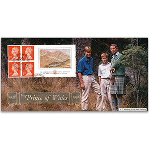 1998 Prince of Wales 50th Birthday Label - Balmoral Castle