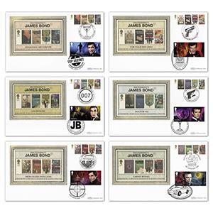 2008 James Bond Stamps BS Set - Doubled 2020
