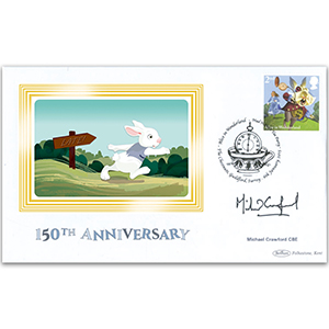 2015 Alice in Wonderland Stamps BS - 2ND Hare - Signed by Michael Crawford CBE
