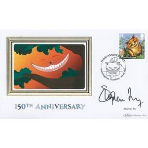 2015 Alice in Wonderland Stamps BS - 81P Cat - Signed by Stephen Fry
