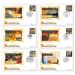 2016 Great Fire of London Stamps - BS Set