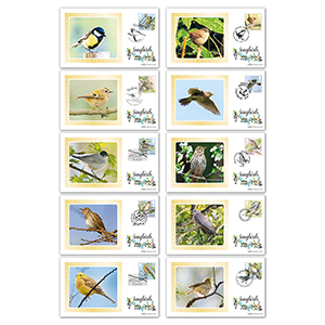 2017 Songbirds Stamps BS Set