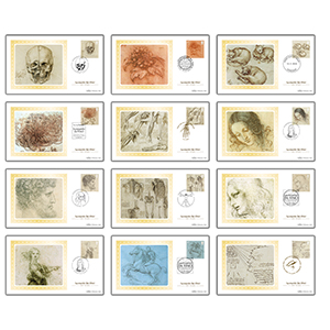2019 Leonardo da Vinci Stamps BS Set