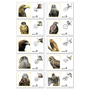 2019 Birds of Prey Stamps BS Set of Covers