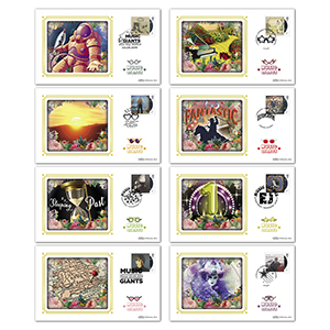 2019 Elton John Stamps BS Set